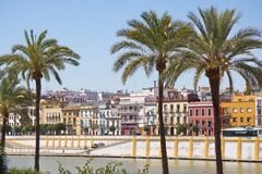 Seville, Spain. View from river side Royalty Free Stock Photography