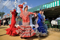 Free SEVILLE, SPAIN, Women In The Fair Of Seville Royalty Free Stock Image - 30543836