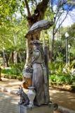 Seville Spanien - April 13, 2016: Bosatt statygataaktör Fotografering för Bildbyråer