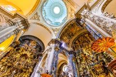 Seville Spanien - kyrklig El Salvado Royaltyfria Bilder