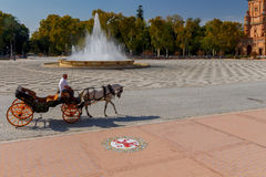 Free Seville. Spanish Square Or Plaza De Espana. Stock Images - 95390844