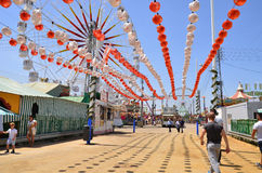 Seville Spring Festival 2014 Fairground Royalty Free Stock Photography