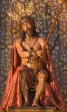 Seville - The statue of Jesus in bond in church Iglesia de la Anunciacion by Agustin Perea (1687) Stock Image