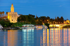 Seville at a summer night Royalty Free Stock Photography