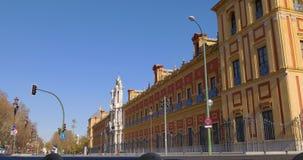 Seville sun light tourist traffic 4k spain. Spain seville sun light tourist traffic 4k stock video footage