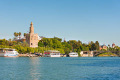 Seville in a sunny summer day Royalty Free Stock Images