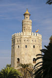 Seville - Torre del Oro. Torre del Oro (Tower of gold) is one of the most famous landmarks in Seville. The tower is placed on the banks of Guadalquivir river Stock Images