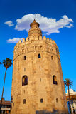 Seville torre del Oro sunset Sevilla Andalusia. Seville torre del Oro sunset in Sevilla Andalusia Spain royalty free stock images