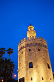 Seville torre del Oro sunset Sevilla Andalusia. Seville torre del Oro sunset in Sevilla Andalusia Spain royalty free stock photo