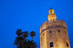 Seville torre del Oro sunset Sevilla Andalusia. Seville torre del Oro sunset in Sevilla Andalusia Spain royalty free stock photography