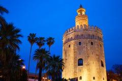 Seville torre del Oro sunset Sevilla Andalusia. Seville torre del Oro sunset in Sevilla Andalusia Spain stock image