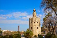 Seville Torre del Oro tower in Sevilla Spain. Seville Torre del Oro tower in Sevilla Andalusia Spain royalty free stock photo