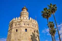 Seville Torre del Oro tower in Sevilla Spain. Seville Torre del Oro tower in Sevilla Andalusia Spain stock images