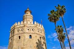 Seville Torre del Oro tower in Sevilla Spain. Seville Torre del Oro tower in Sevilla Andalusia Spain stock photo
