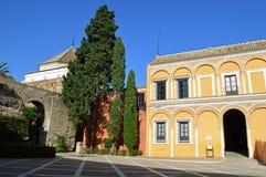 Seville - Uteplats de la MonterÃa Borggård av MonterÃaen royaltyfri bild