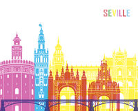 Seville V2 skyline pop Stock Image