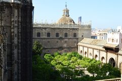Seville - View of the cathedral from the Giralda stock images