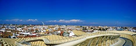 Seville widok od Metropol Parasol Zdjęcia Royalty Free