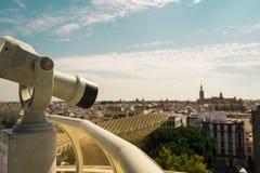 Seville widok od Metropol Parasol Obrazy Stock