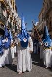 Seville wielkanoc, Nazarenes Zdjęcia Royalty Free