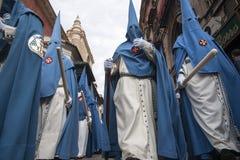 Seville wielkanoc, Nazarenes Zdjęcie Stock