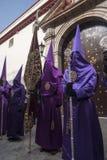 Seville wielkanoc, Nazarenes Fotografia Royalty Free