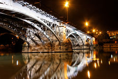 Sevillie, Triana Bridge Close Up Royalty Free Stock Photos