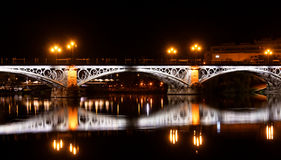 Sevillie, Triana Bridge Panorama Stock Photos