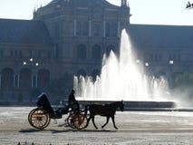 Sevillla, España, 01/02/2007 Cuadrado de Royal Palace Fuente foto de archivo