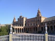 Sevillla, Espa?a, 01/02/2007 Cuadrado de Royal Palace Puente imagenes de archivo