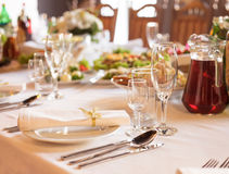 Seving table Stock Image