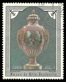 Sevres瓷花瓶 免版税库存照片