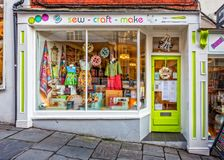 Sew-Craft-Make shop front in Frome Stock Photography