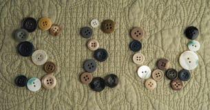 SEW a défini avec des boutons photographie stock