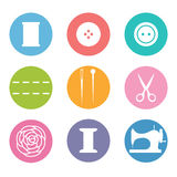 Sew icon set Royalty Free Stock Photo