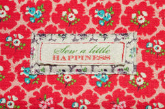 Sew a little happiness Royalty Free Stock Photography