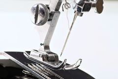 Sew machine yarn and needle work tool Stock Image