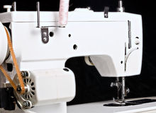 Sew machine yarn and needle work tool Stock Photos