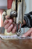Sew sewing machine Stock Images
