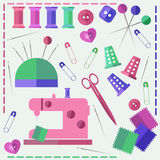 Sew vector set Stock Image