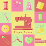 Sew vector set Stock Photo