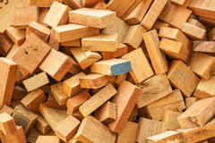 Sew wood scraps Stock Images