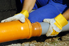 Sewage assembly Stock Photography