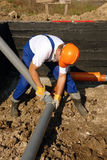 Sewage assembly Royalty Free Stock Photo