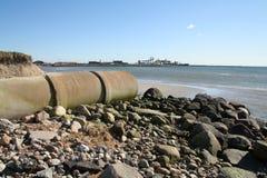 Sewage beach Stock Photos