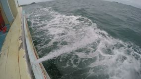 Sewage on the boat. In Thailand stock video