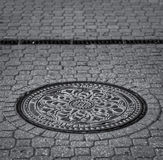 Sewage Cover. In the Streets of Budapest Royalty Free Stock Images