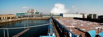 Sewage farm. A waste water treatment unit royalty free stock photo