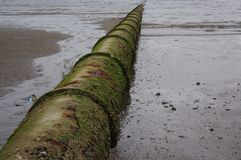 Sewage Outflow Pipe Royalty Free Stock Images
