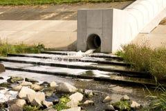 Sewage pipe Royalty Free Stock Photo